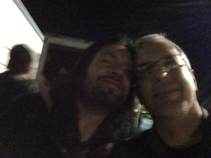 Blurry selfie with Tommy Victor from Prong
