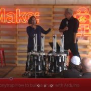 Quentin and Hilary speaking at Maker Faire Bay Area